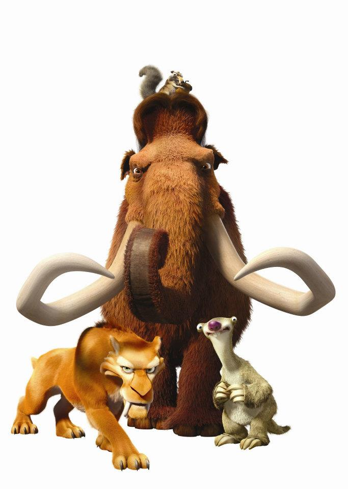 It is a graphic of Geeky Ice Age Character Pictures