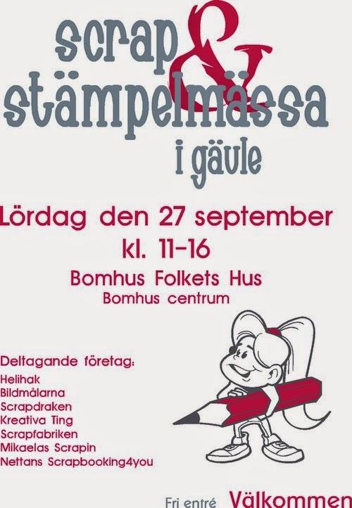 Scrap & Stämpelmässa i Gävle 2014
