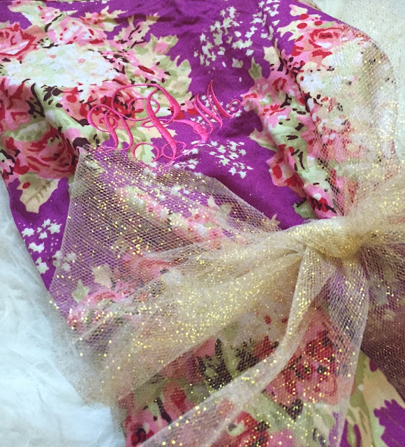 floral monogrammed gift robe