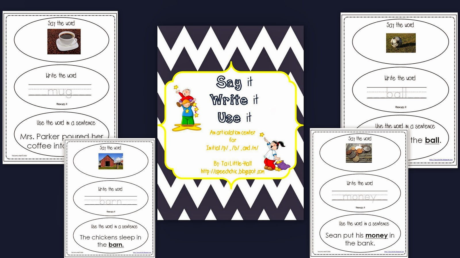 http://www.teacherspayteachers.com/Product/An-Articulation-Center-for-Initial-p-b-and-m-1095491