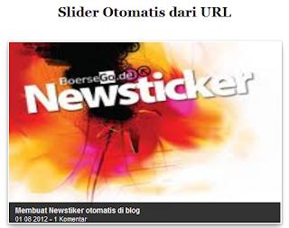 Slider Otomatis Dari URL