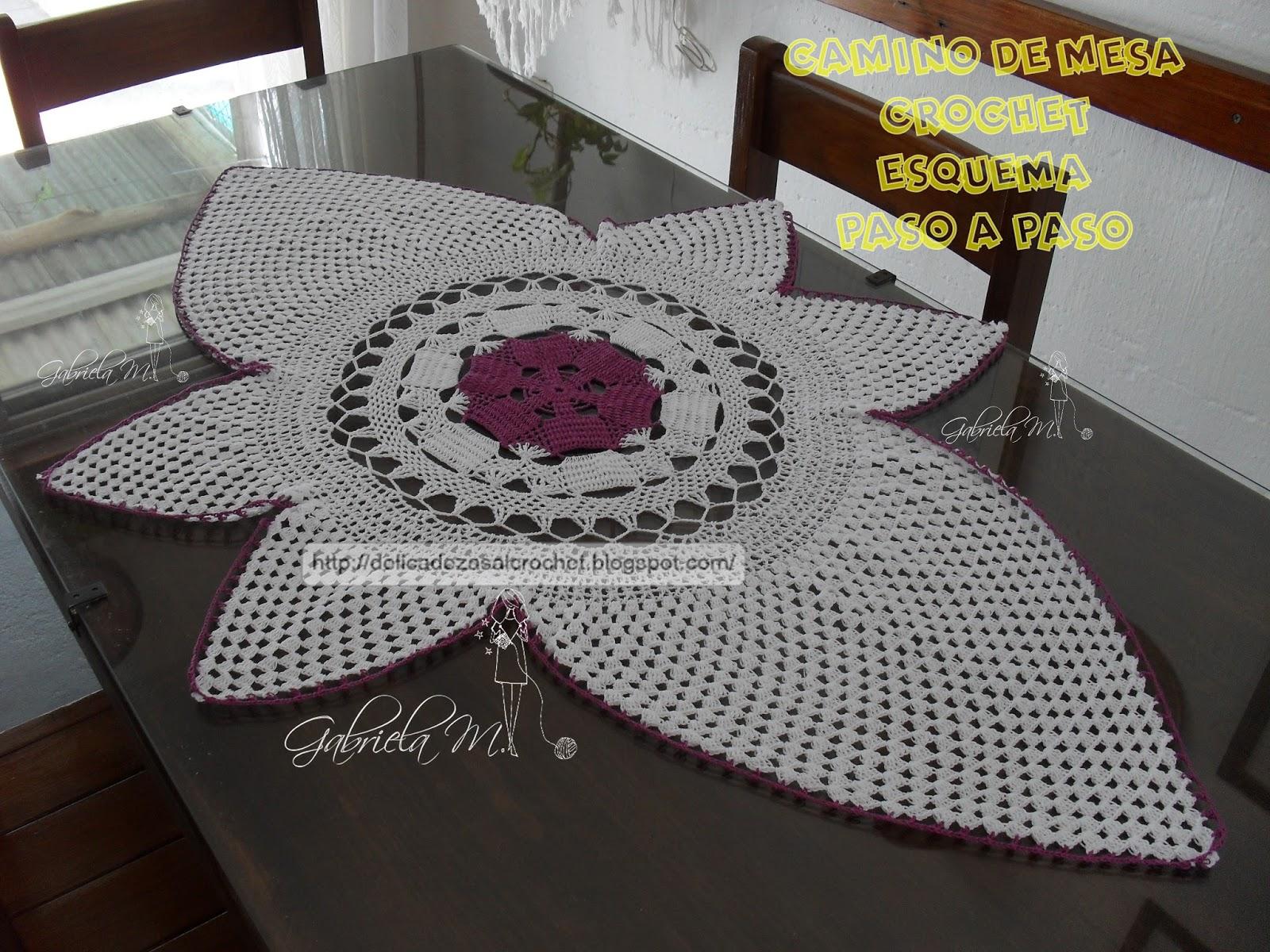 Delicadezas en crochet gabriela tapete ovalado - Centro de mesa a crochet ovalado ...