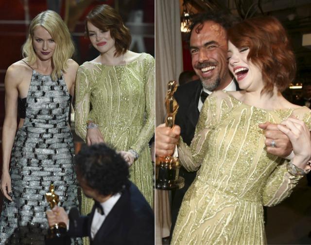 Emma Stone, Naomi Watts y Alejandro González Iñárritu