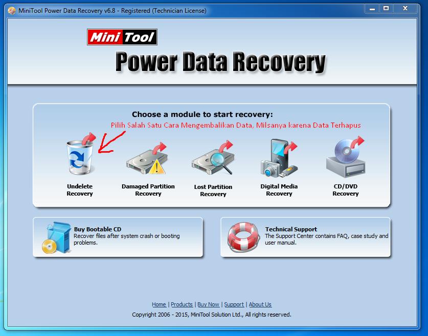 Cara Menggunakan MiniTool Power Data Recovery 6.8