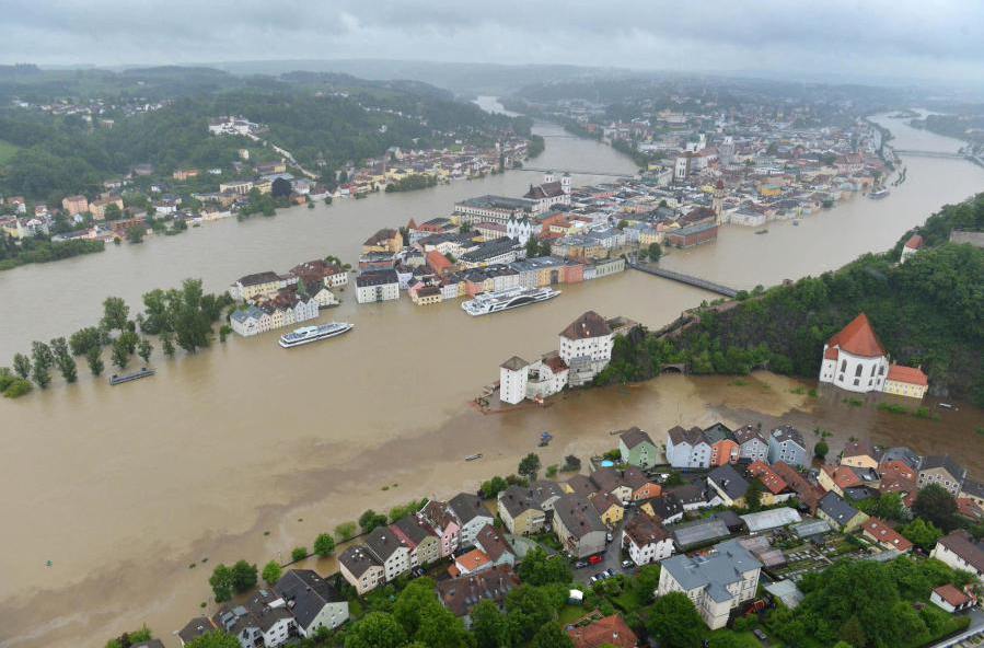 Staying in Frankfurt: German town sees worst flooding in ...