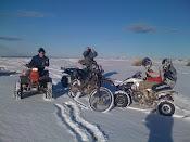 5º bajo cero pero la moto es la moto