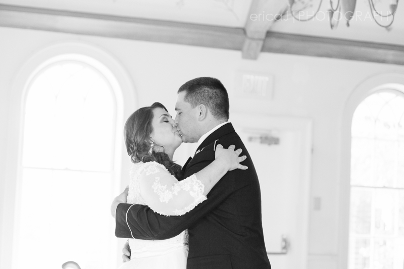 bride and groom kiss south florida wedding