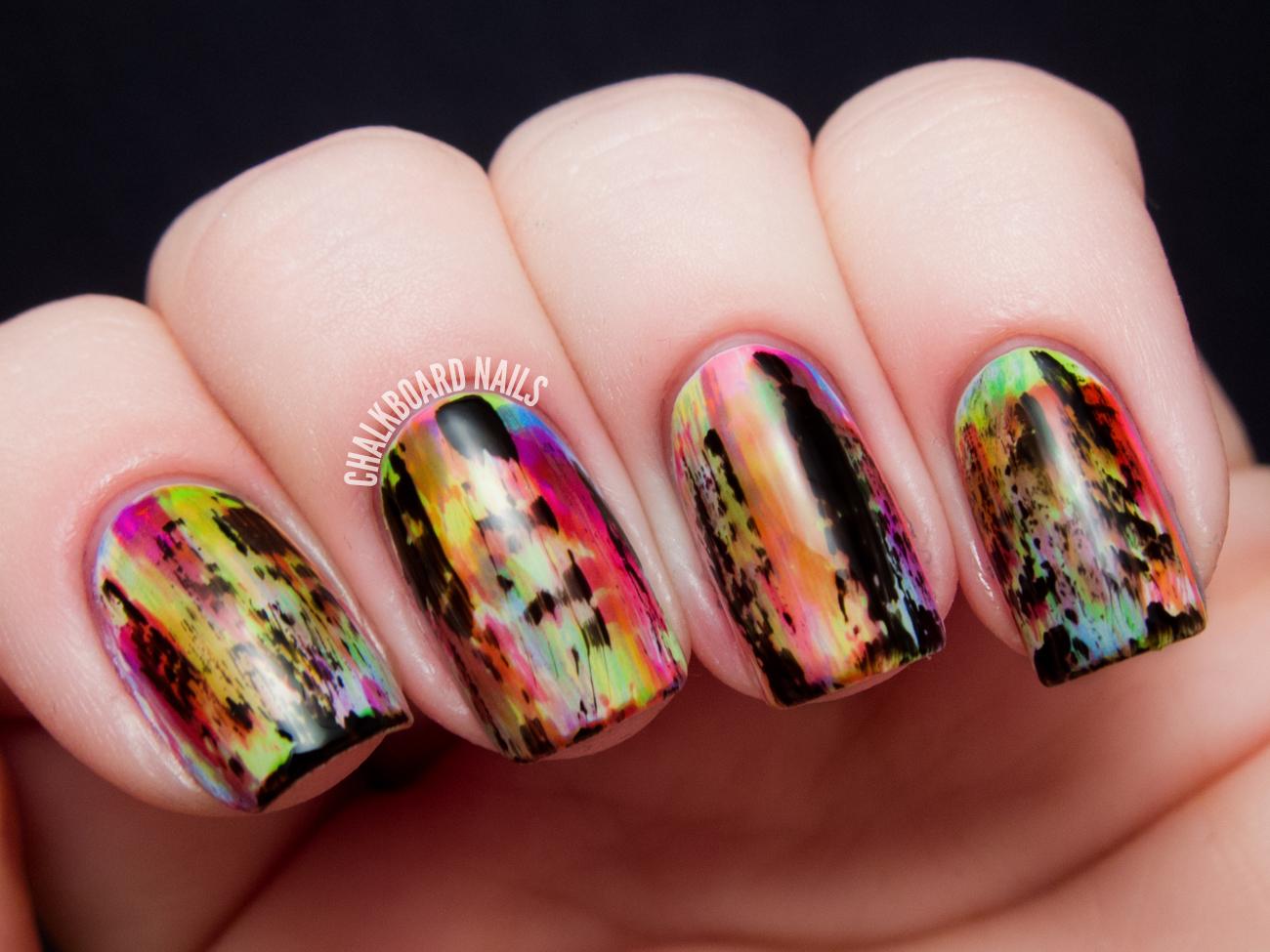 Punky Neon Grunge Nail Art Chalkboard Nails Nail Art Blog