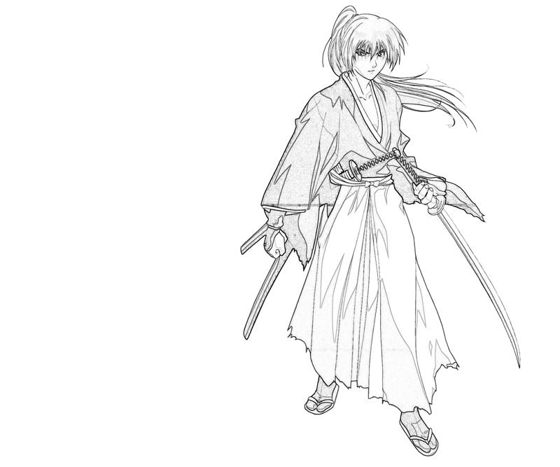 coloring pages for rurouni kenshin - photo#17
