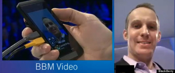 BBM Feature Video chat and share the screen in BlackBerry 10