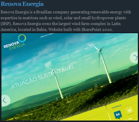 Renova Energia is the Site of the Month