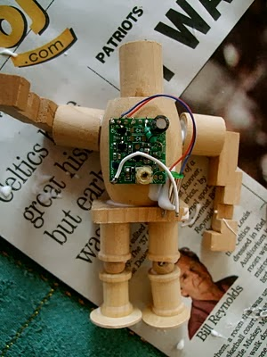 Make a Wooden Robot Ornament