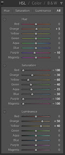 how to change specific color s in lightroom