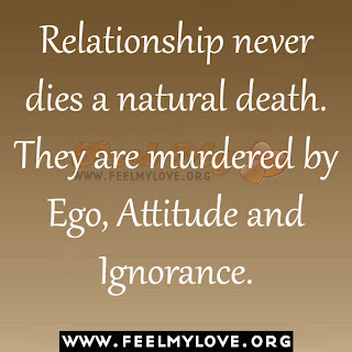 Relationship never dies a natural death