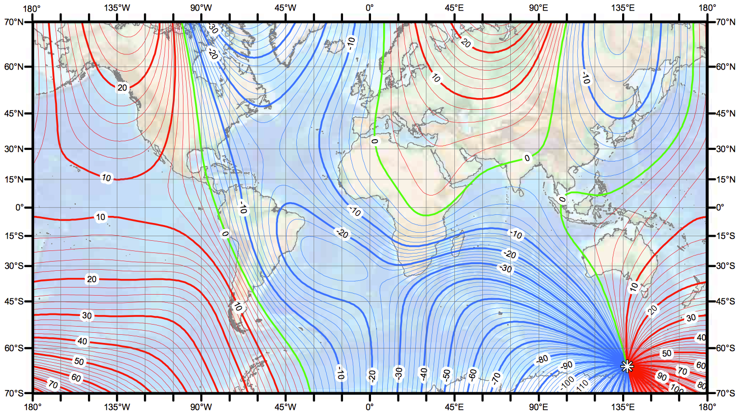 GeoGarage Blog World Magnetic Model Updated - Us declination map