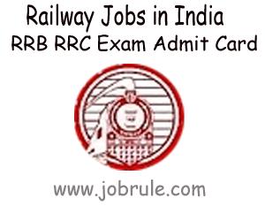 RRC ECR Patna (RRC/ECR/GP1800/1/2012) Group D Jobs Examination Time Schedule, Duplicate Admit Card & Current Vacancies Details