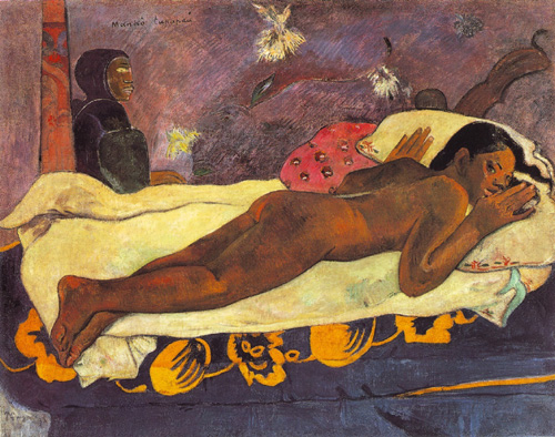 Manao tupapau (El espíritu de los muertos vela), obra de Paul Gauguin, pintada en 1892