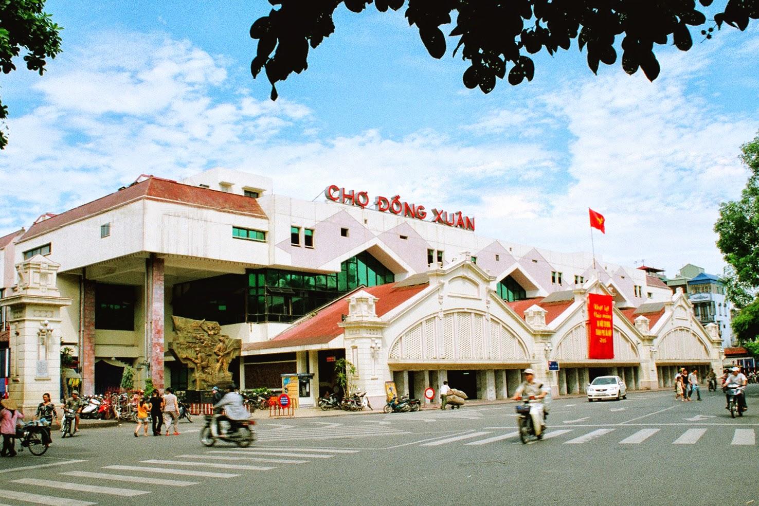 Kết quả hình ảnh cho chợ Đồng Xuân