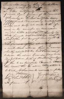 Marriage Bond - George Reves to Elizabeth Wilkerson