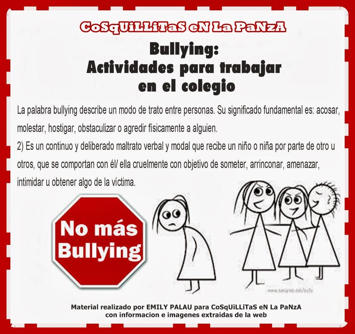 Bullying Actividades Para El Colegio