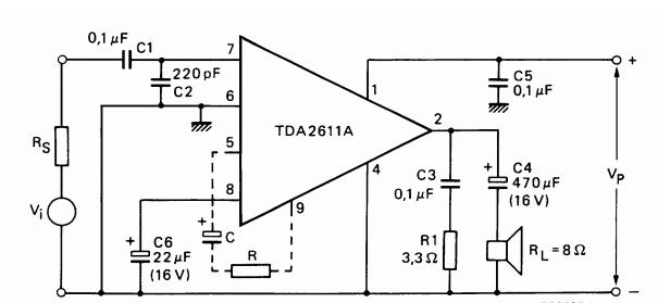 amplifiercircuits com  tda2611