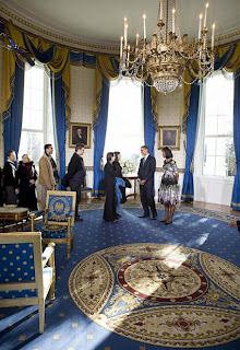 blue room in whitehouse america
