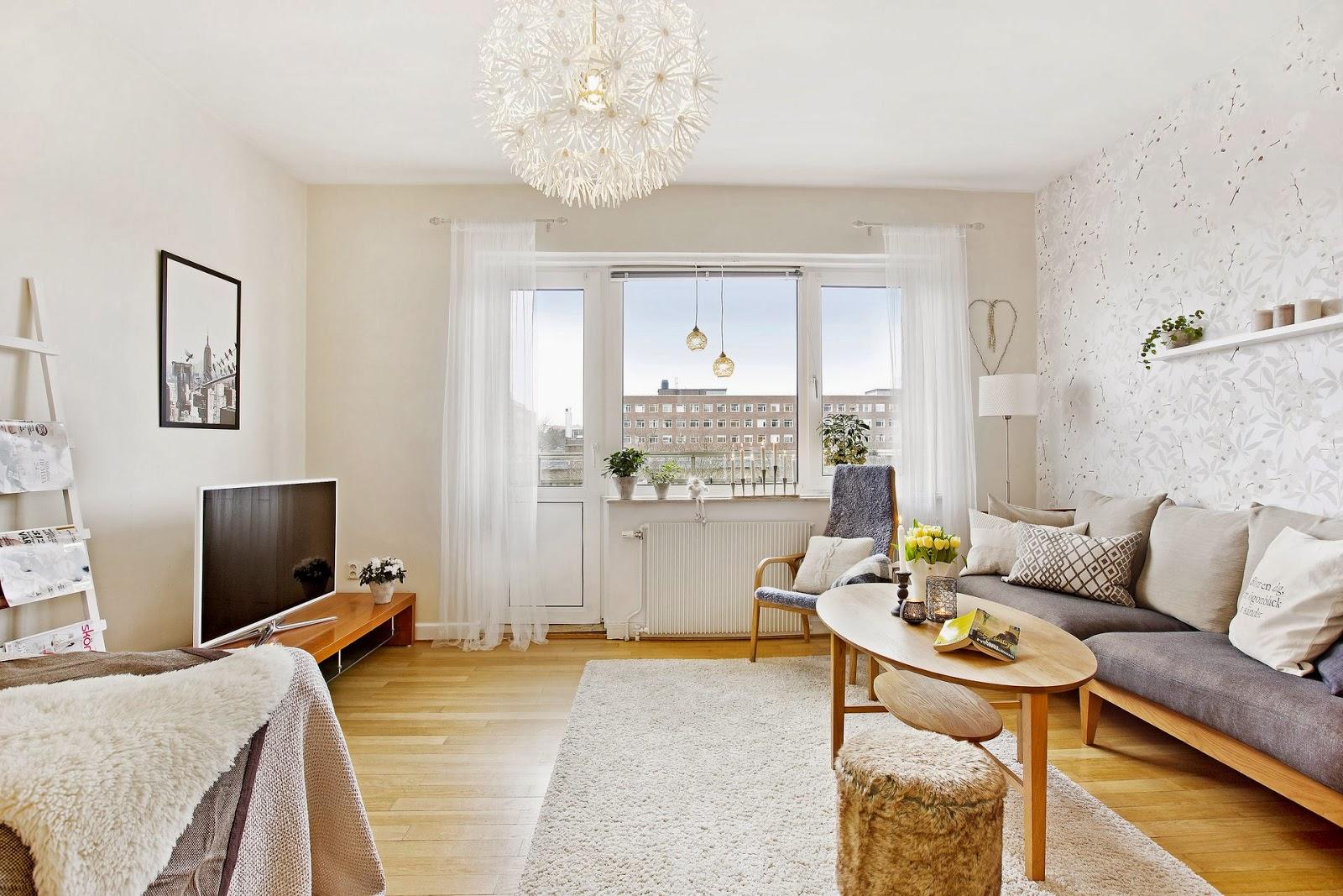 Como Decorar Un Piso Con Muebles En Color Madera Boho Deco Chic  # Pequenos Gigantes Muebles
