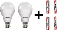 Buy Eveready 15 Watt Combo Pack CFL of 2 At Rs. 162 only :buytoearn