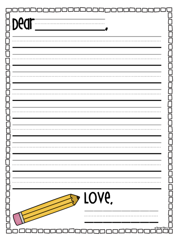 friendly letter writing paper for kids