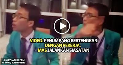 Video Penumpang Bertengkar dengan Pekerja MAS Jalankan Siasatan