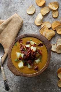 Country Split Pea Soup w/ Bacon & Potatoes