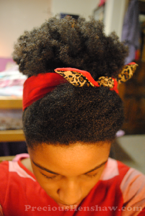 Pin Up Scarf Hairstyle For Natural Hair