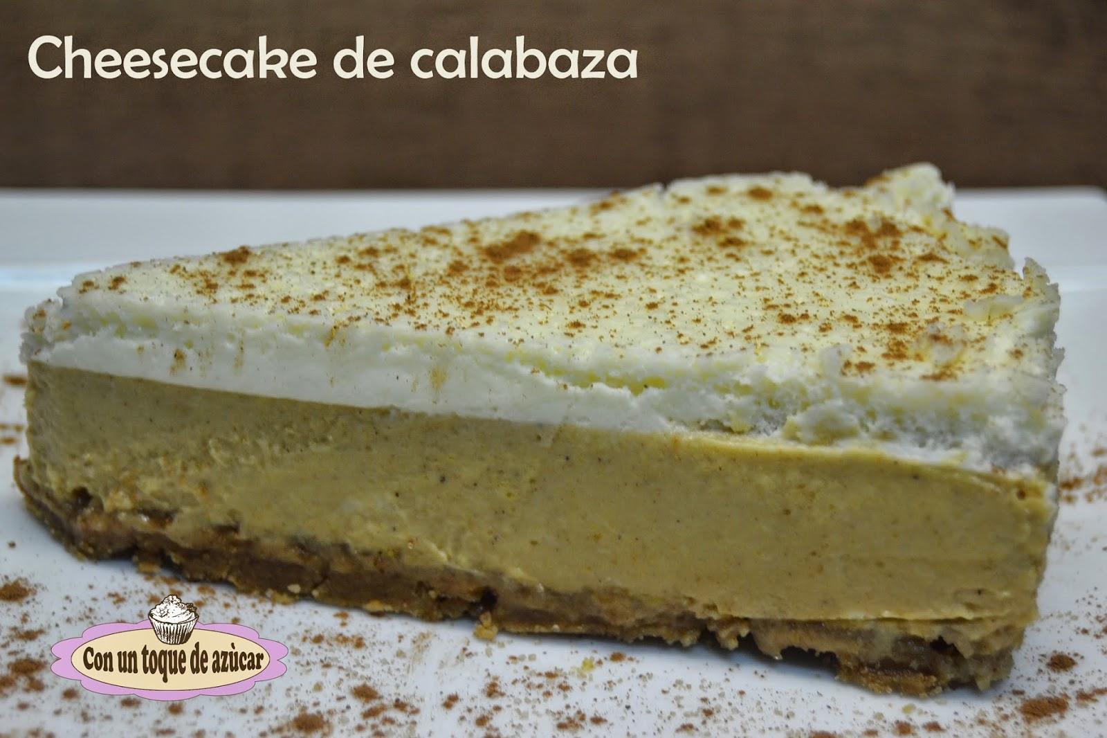 Cheesecake de calabaza II - Con un toque de azúcar