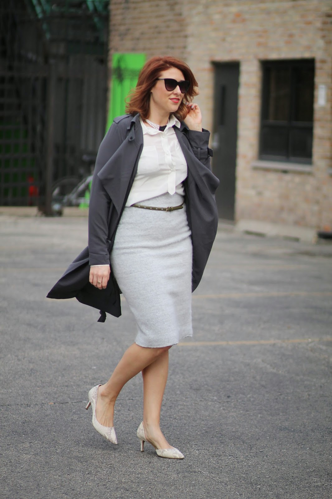 silky, trench, coat