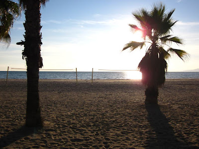 Sunset in Salou beach