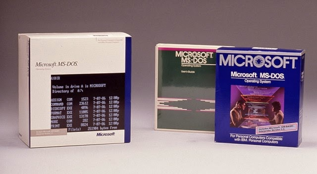 microsoft ms dos packaging