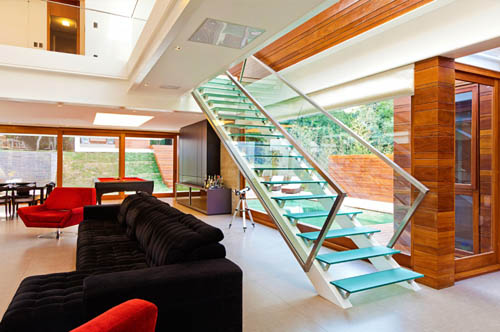 Contemporary Design of Haack House stairs