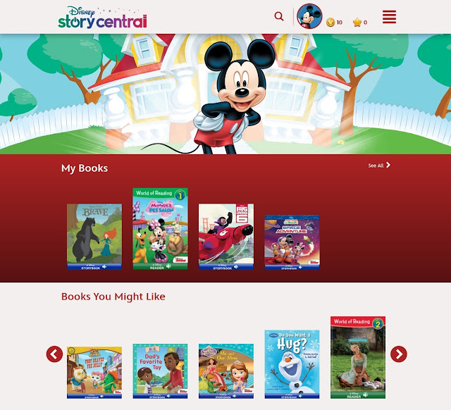 Disney Story Central homepage