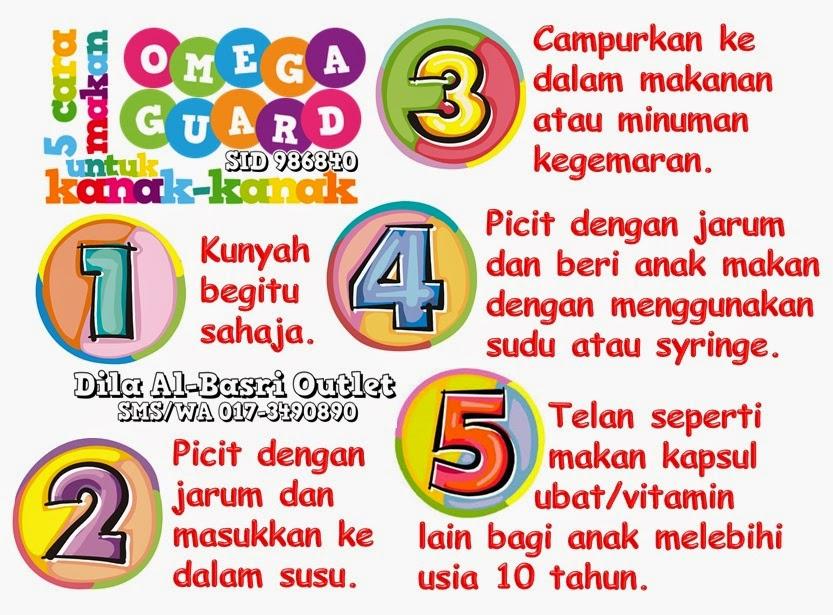 5 cara makan Omega Guard Shaklee untuk kanak-kanak