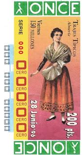 Traje típico de Almería - Mujer - Cupones ONCE 1996