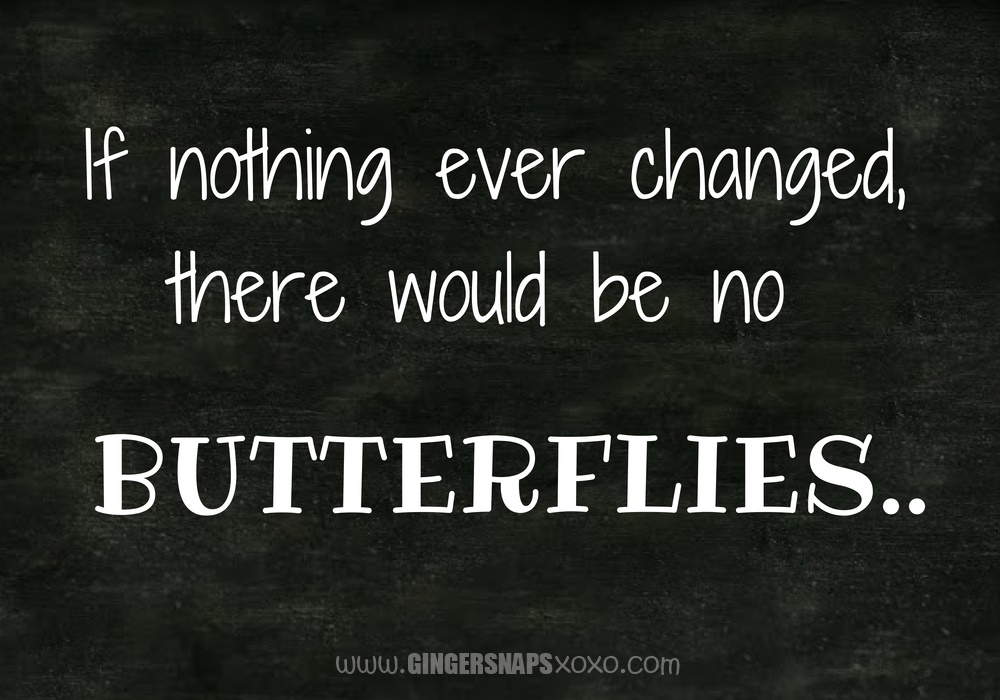 Chalkboard Motivational Quotes If nothing ever changed butterflies