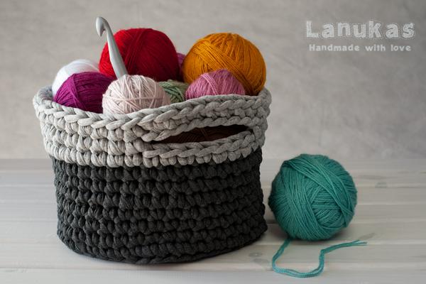 Lanukas cestas de trapillo personalizadas - Cestas de trapillo ...