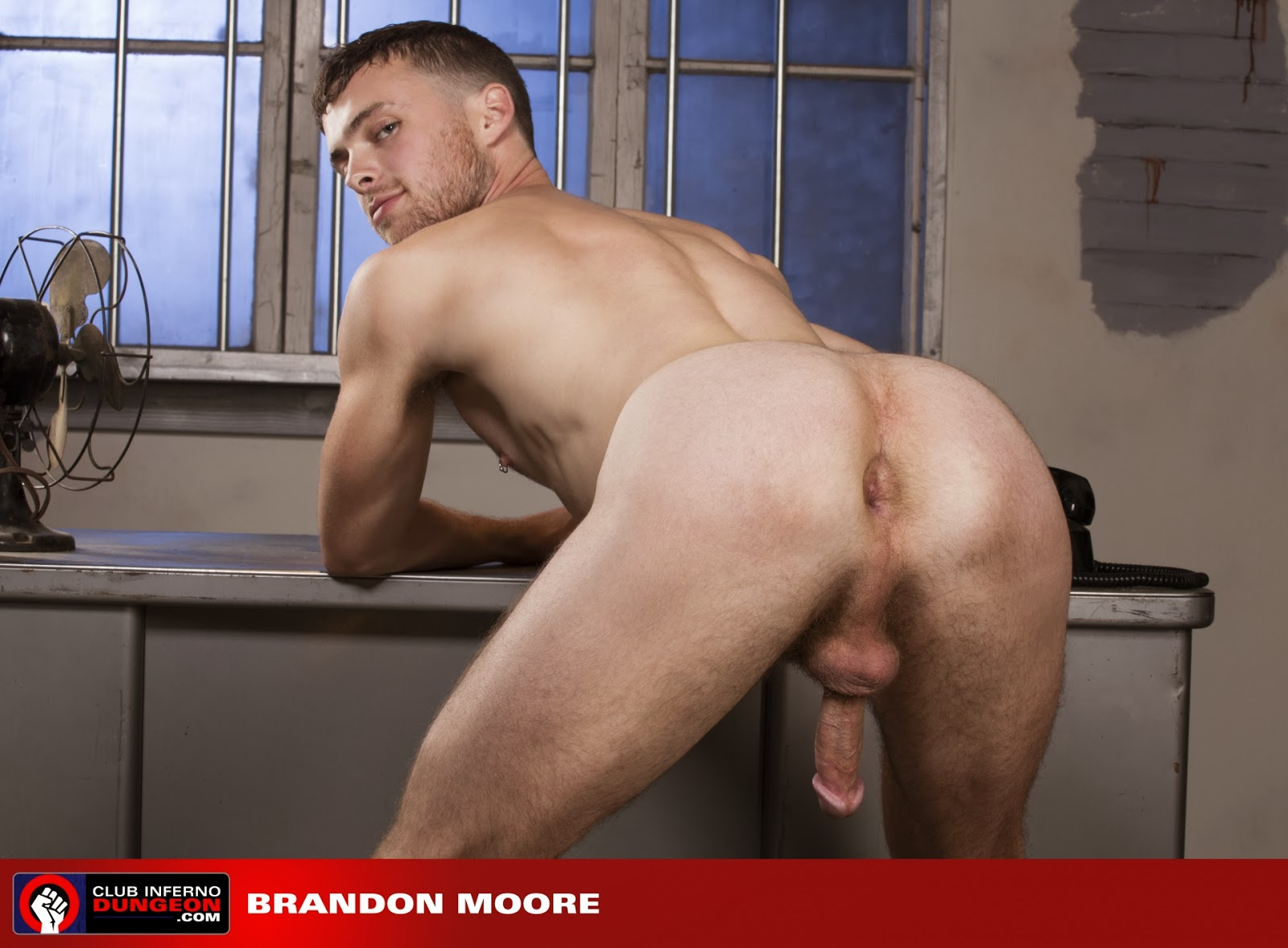 Brandon moore shoves big cock down his throat 4
