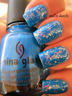 luxe, lush, china, glaze, flak, flakie, flakey, flake, blue, neon