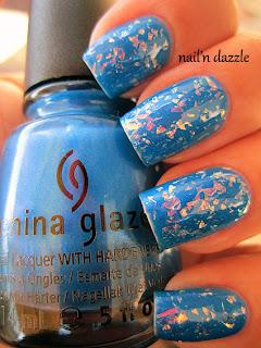 luxe, lush, china, glaze, flak, flakie, flakey, flake, blue, neon