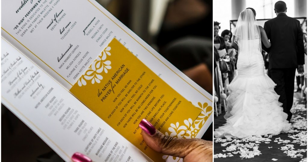 What to Include in Your Wedding Program