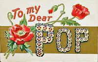 Vintage Dear Pop Postcard