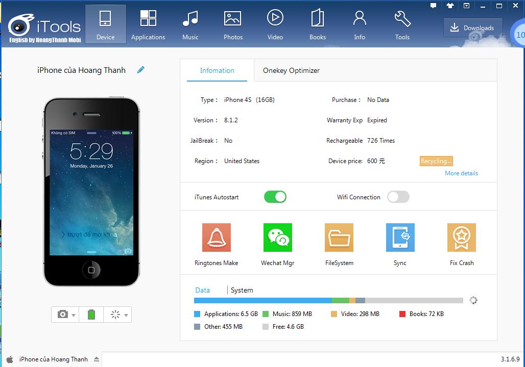 Ocioesfera: iTools English version 3.3.7.7 [iOS 10 Compatible]