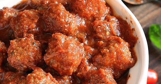 Crockpot Italian Meatballs and Marinara