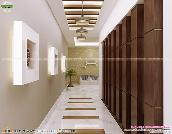 Foyer interior design Kerala